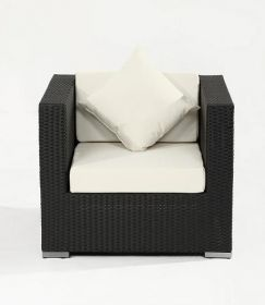 Luxus Polyrattan Sessel in schwarz