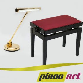 Klavierbank & LED Pianolampe - SET