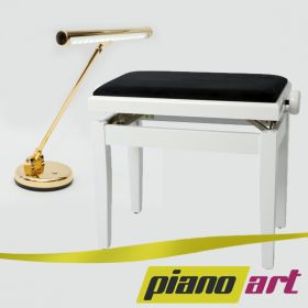 Klavierbank & LED Pianolampe SET