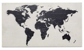 World Map Betonkunst