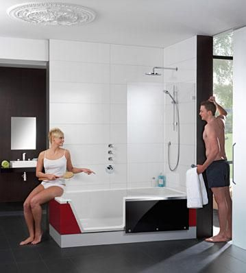 easy in170 badewanne und dusche in einem. Black Bedroom Furniture Sets. Home Design Ideas